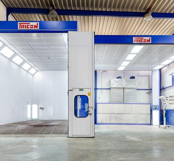 Verniciatura carrozzeria industriale per camion e pullman