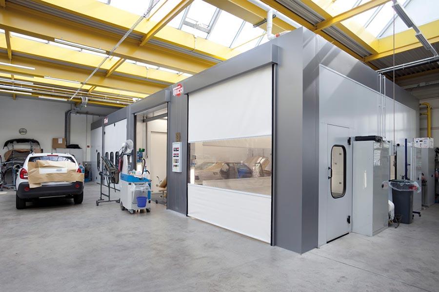Autocarrozzeria grosspeter cabine forno verniciatura tricon for Piani moderni della cabina di ceppo